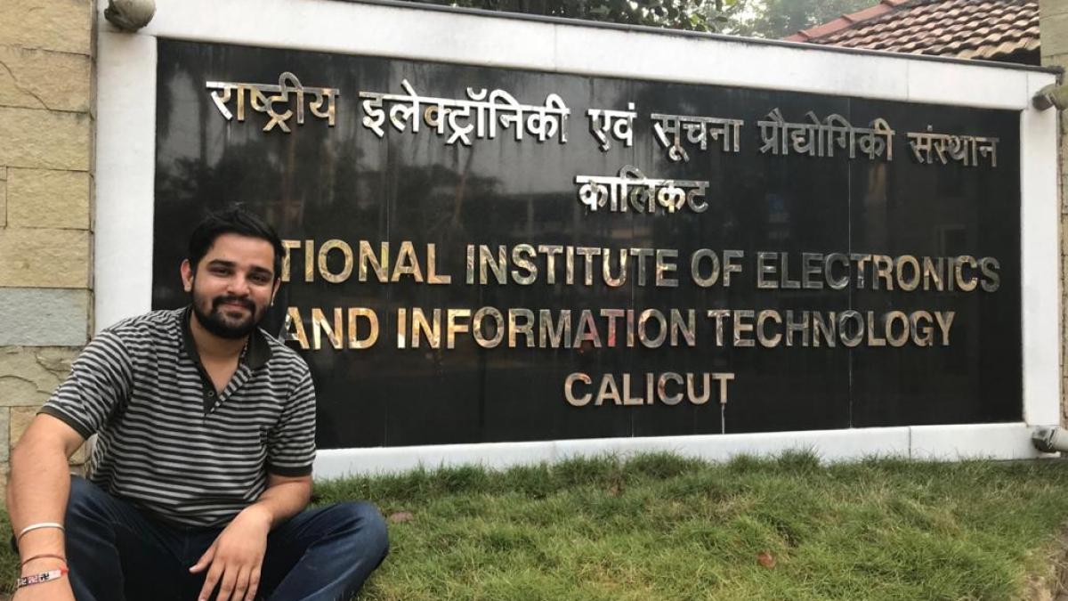 Vaibhav at his institute