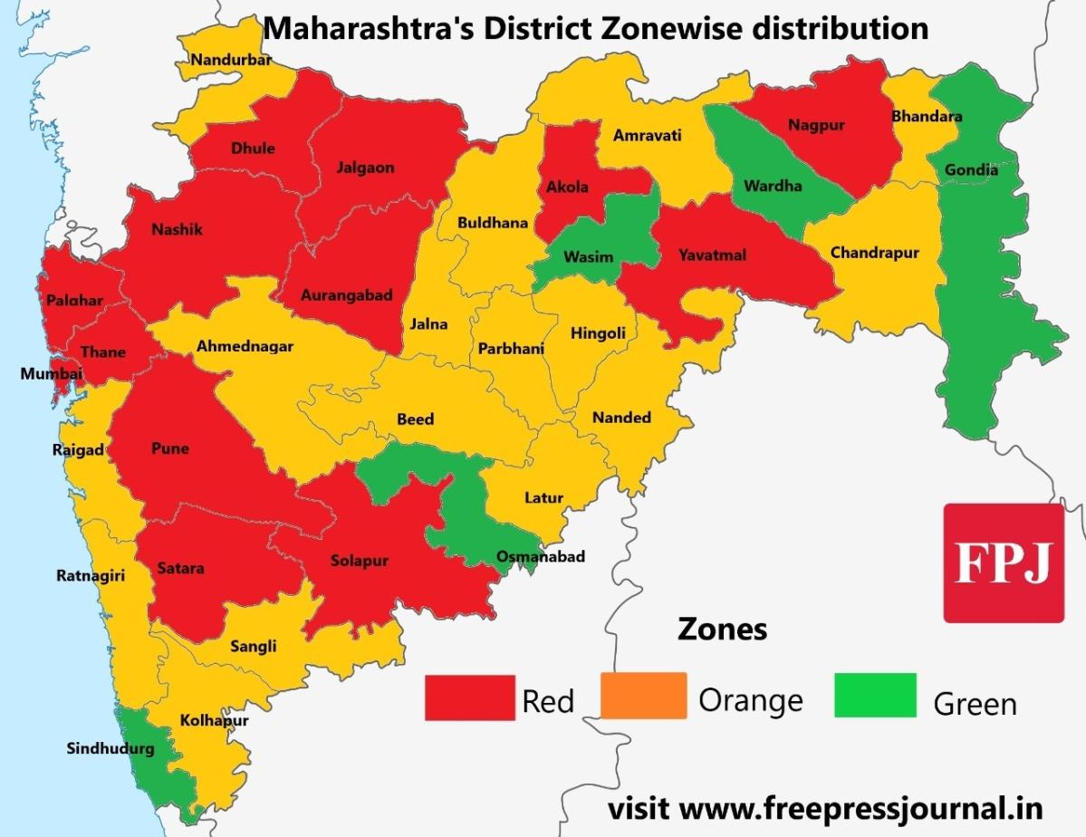 Lockdown 3.0: Full list of red, orange and green zones in Maharashtra