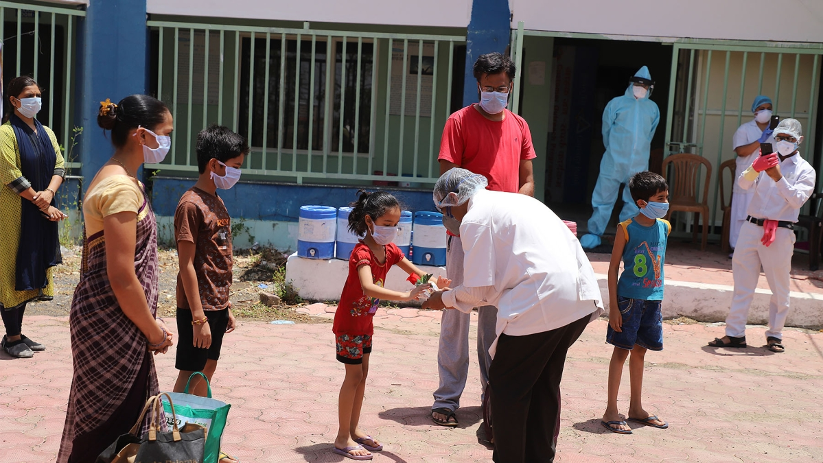 Discharged patients in Dhar