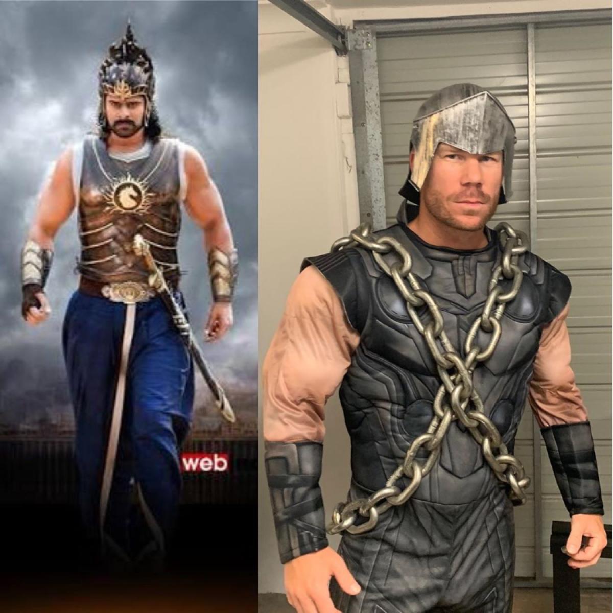 David Warner dresses up like Baahubali in social media post