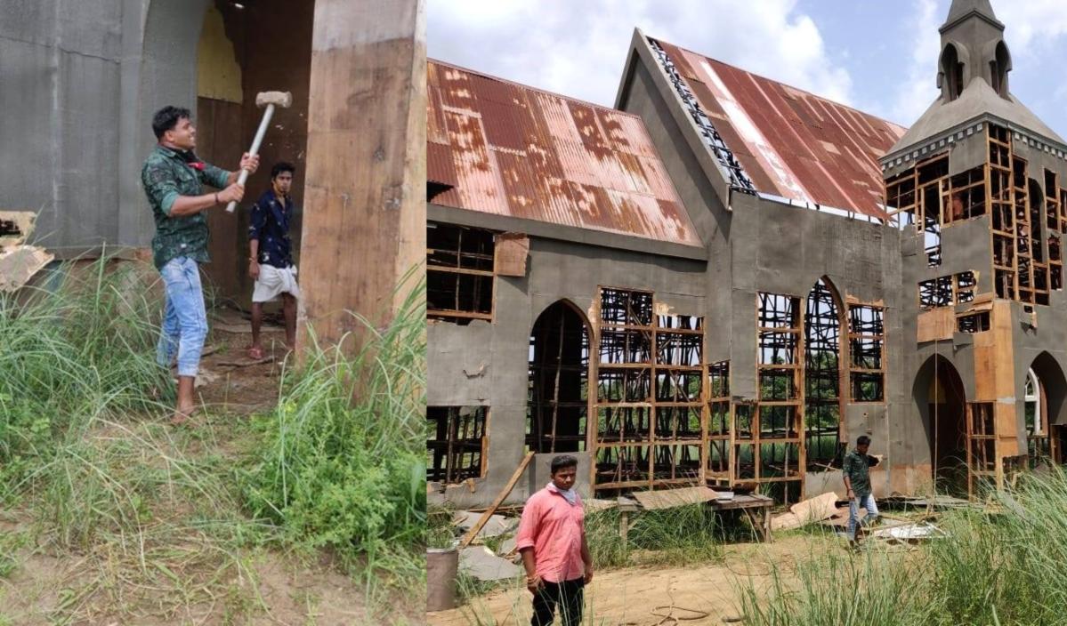 After Pravin Togadia's Hindu RW group destroys film set in Kerala, Vijayan promises 'strict action'