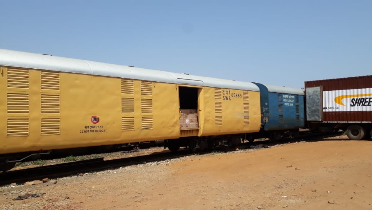Vasco-Shalimar parcel express train carries 105.88 tonnes of essential commodities from Hubballi Division