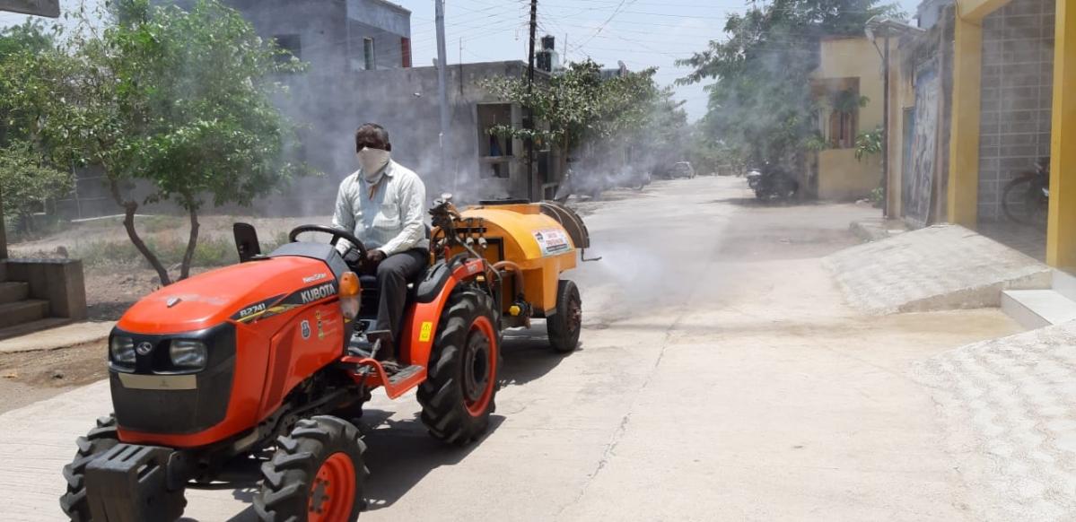 PM Modi praises Nashik farmer for developing sanitiser spraying machine