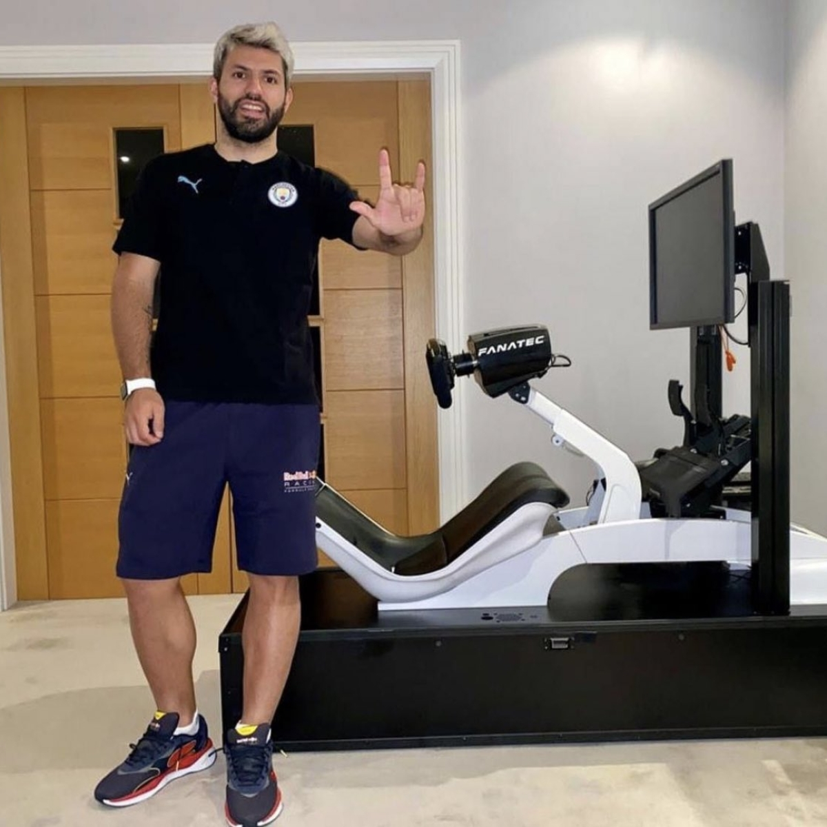 Sergio Aguero set to race for Red Bull in Virtual Spanish Grand Prix