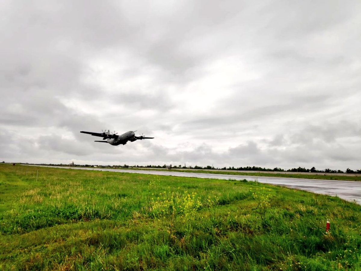 IAF's C-130 airborne for #Covid19 relief mission as planned