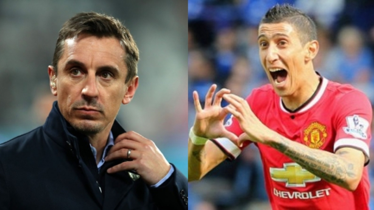 Gary Neville slams Di Maria for his unsuccessful spell at Manchester United after wife's nasty comments