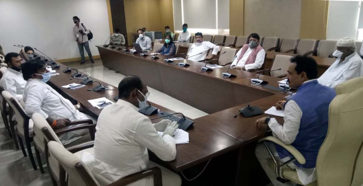 Coronavirus Lockdown 3.0: MP Home Minister Narottam Mishra meets Bhopal's MLAs to discuss people's needs