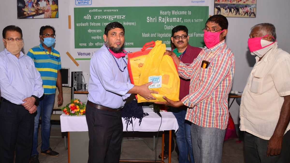 NTPC-Ramagundam distributes vegetable seeds and masks among 225 farmers