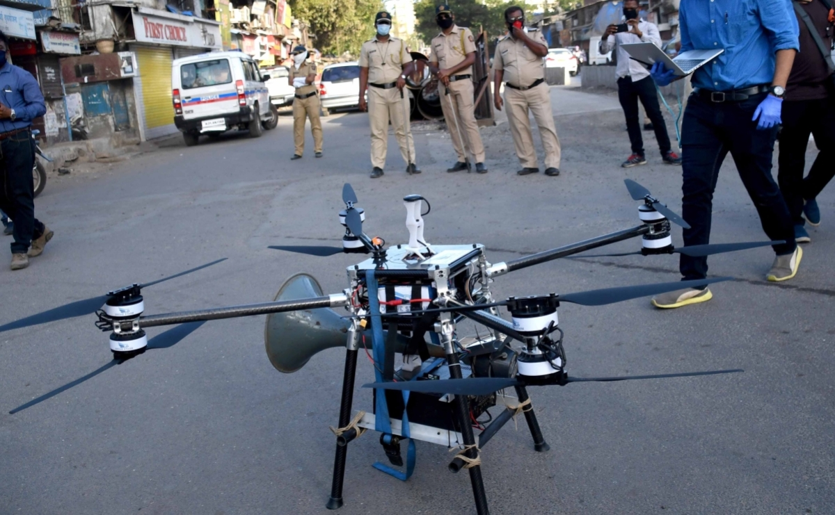 Coronavirus in Mumbai: Mulund MLA uses drones to swoop down on lockdown violators