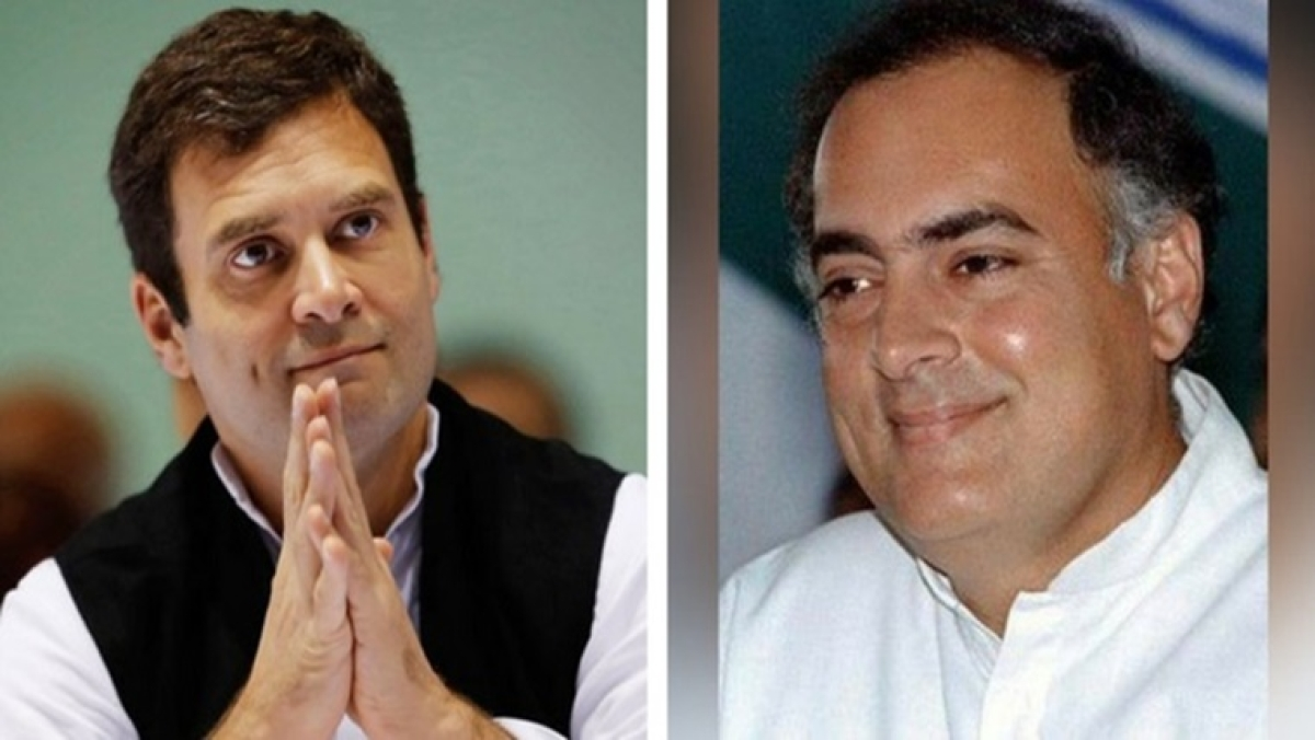 Rahul Gandhi pays homage to his father Rajiv Gandhi, says proud to be the son of a true patriot