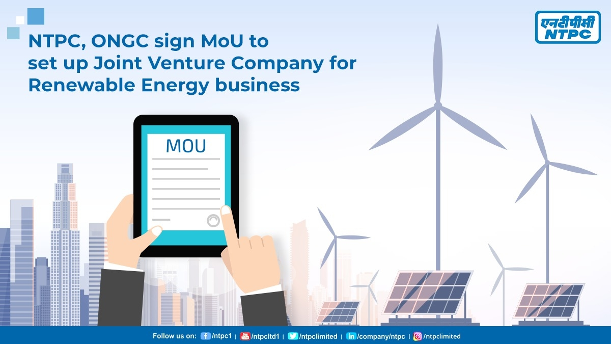 NTPC, ONGC to set up JV Company for the renewable energy business