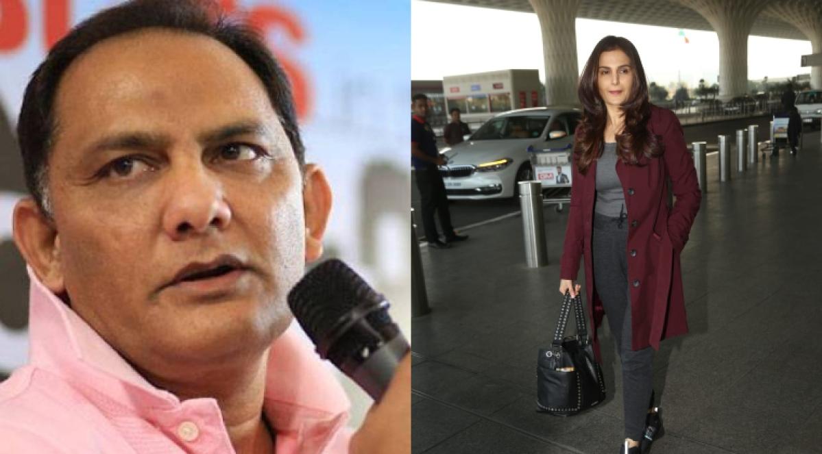 Mohammad Azharuddin(L), Monica Bedi (R)