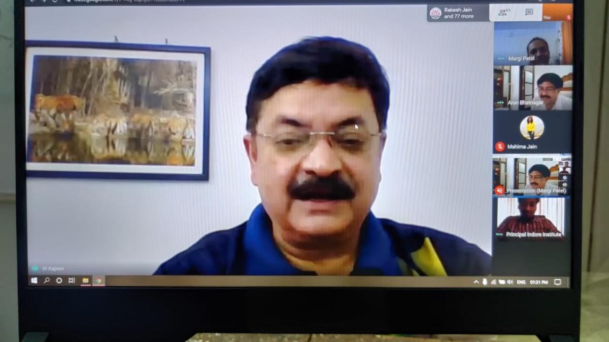 ADG Varun Kapoor in webinar