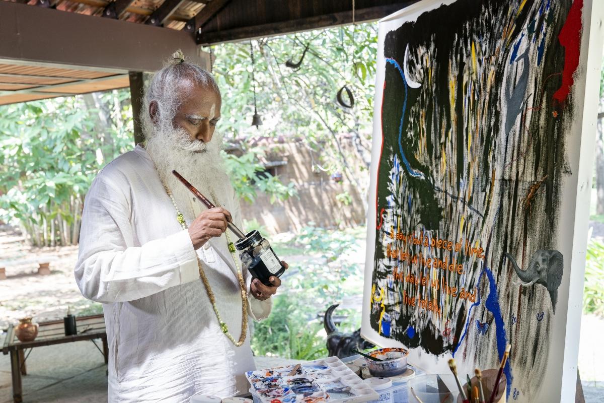 Sadhguru's painting goes under the hammer; fetches Rs 4.14 crore for Isha's coronavirus pandemic relief
