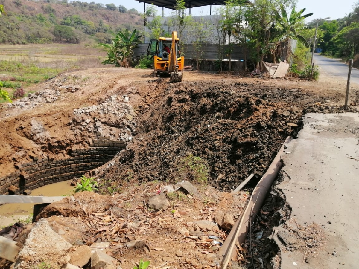 Mira Bhayandar: Pre-British era well faces extinction due to roadwork; Congress, social workers slam MBMC
