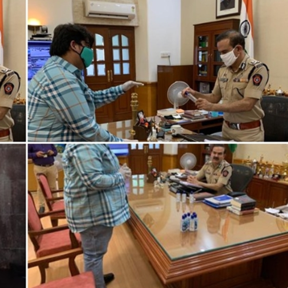 Maha CM thanks Salman Khan for providing 1 lakh hand sanitizers to Mumbai Police