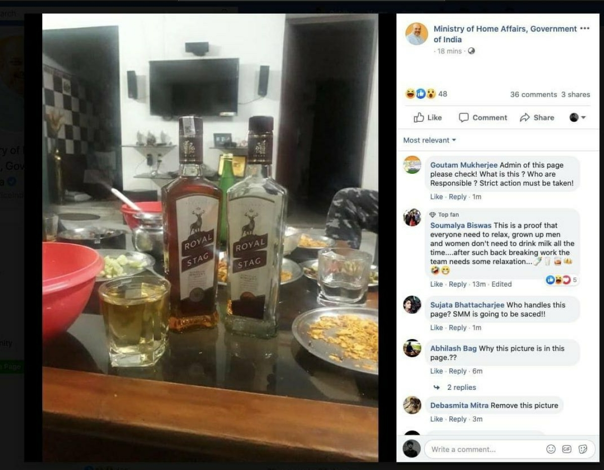 Comic relief among relief work: Home Ministry shares pic of Royal Stag whisky with Cyclone Amphan 'relief work'