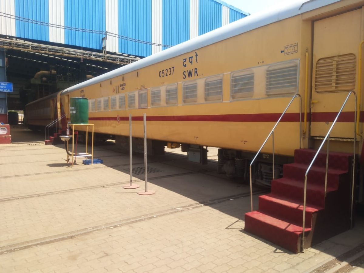 Train coaches converted as COVID care centres to be placed at 14 stations on SWR