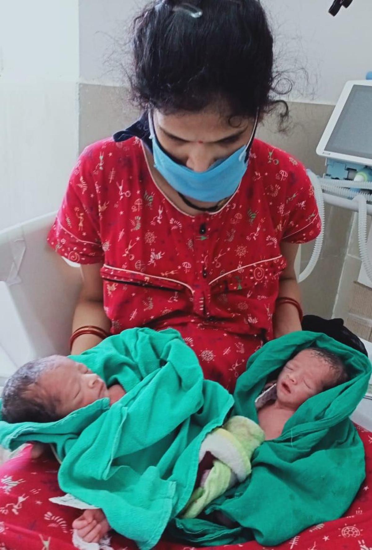 COVID-19 woman, mother of twins, at Maharaja Tukojirao Hospital (MTH), Indore