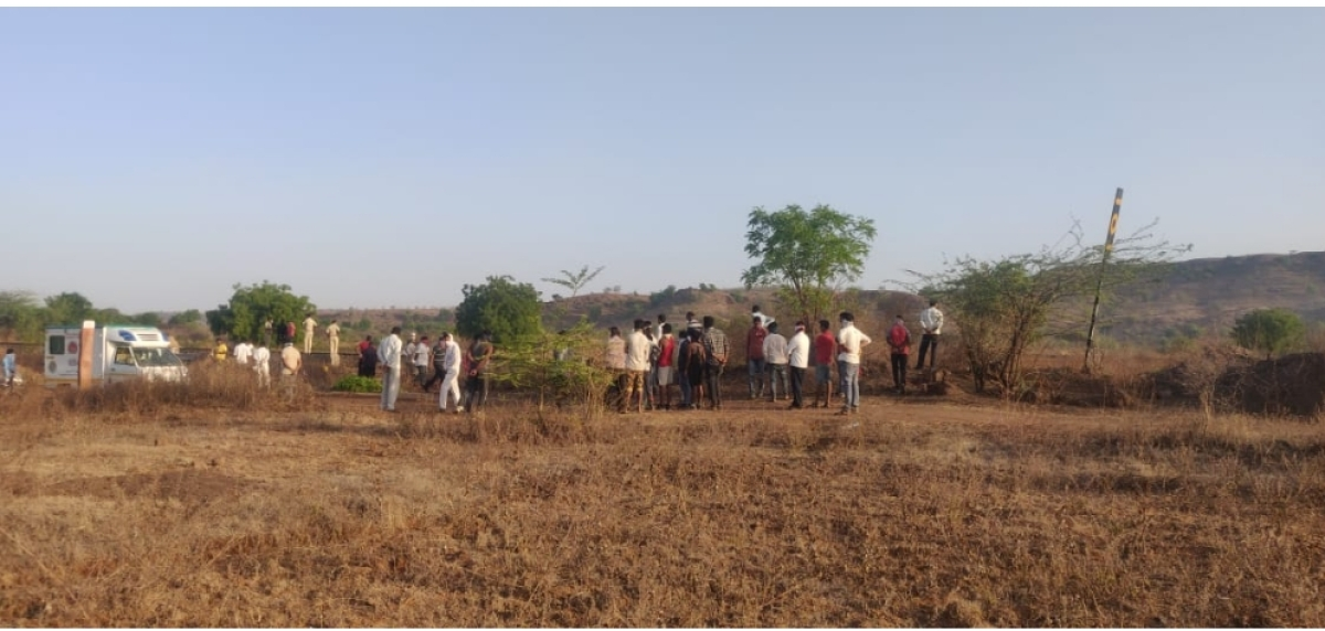 The scene of the tragedy in Aurangabad