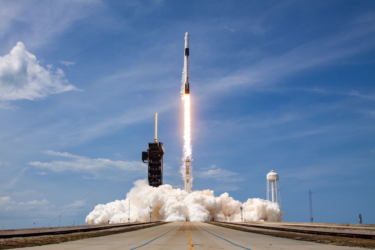 History in the making: Elon Musk's SpaceX propels two NASA astronauts into orbit, see pics