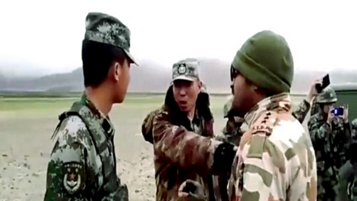 File Photo of ITBP personnel and Chinese soilders somewhere near LAC in Ladakh sector.