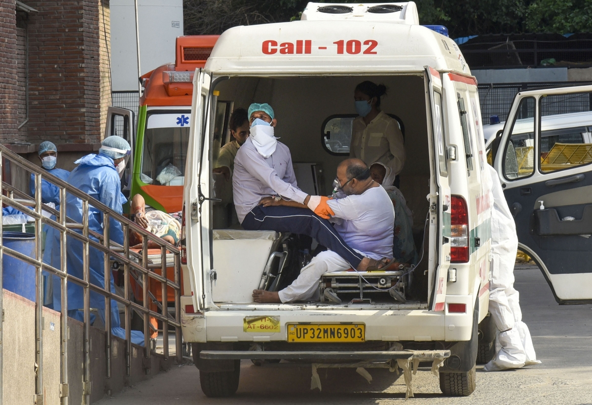 An ambulance in Delhi