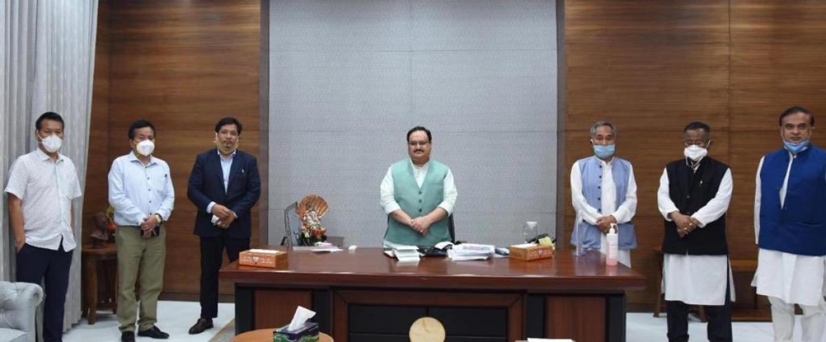 Manipur crisis averted: JP Nadda meets NPP leaders; BJP leader Himanta Sarma says parties 'will continue to work together'