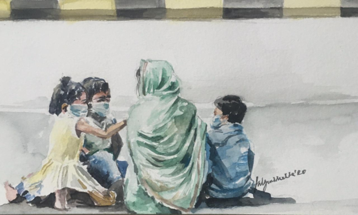 Maa, don't lose hope! We will walk all the way.. We won't ask for food.. We won't ask you to carry us.. And we will reach home, one day!