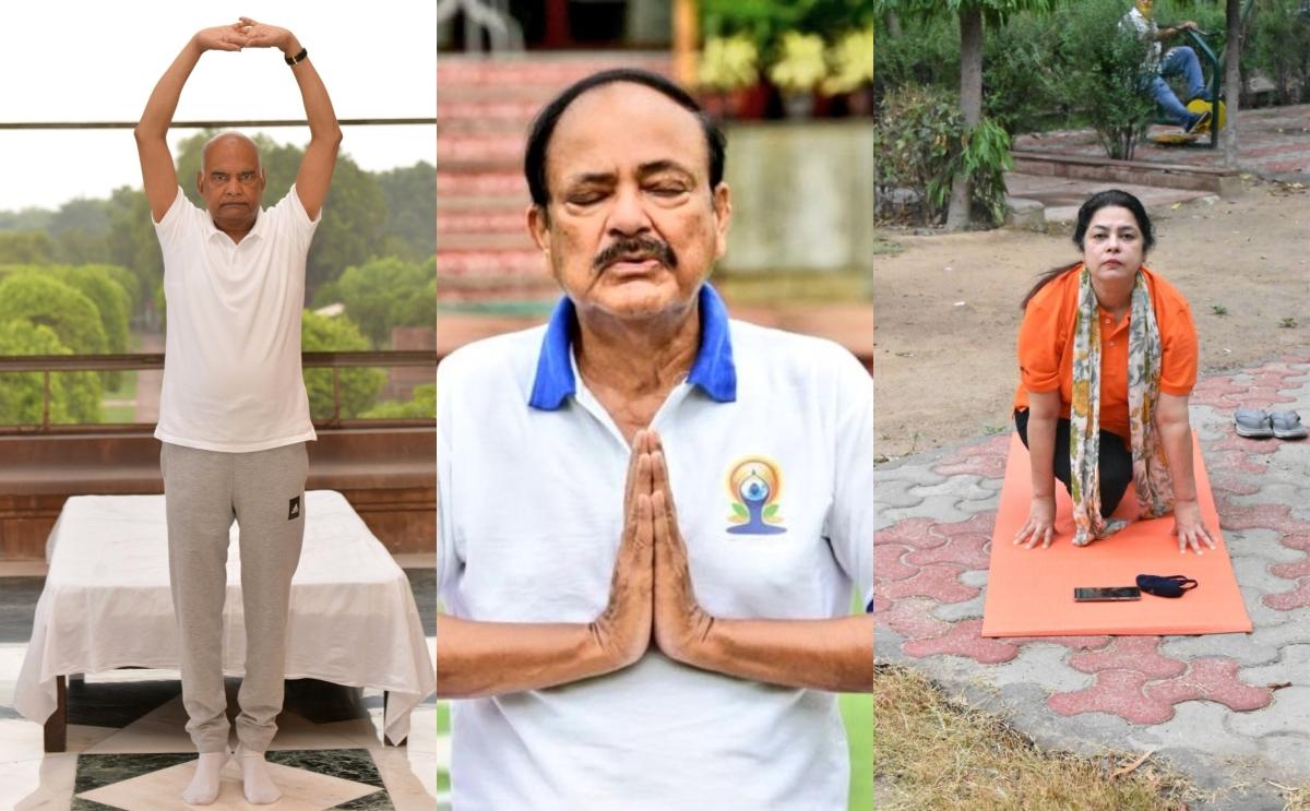 International Yoga Day 2020: Ram Nath Kovind, Venkaiah Naidu, Arvind Kejriwal, and others perform yoga at home