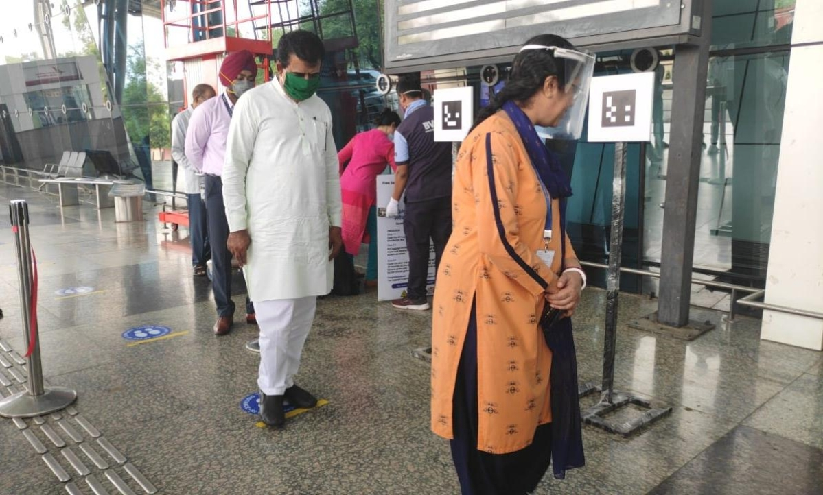 Madhya Pradesh: Indore airport installs smart machine with AI-based sensors to ensure social distancing