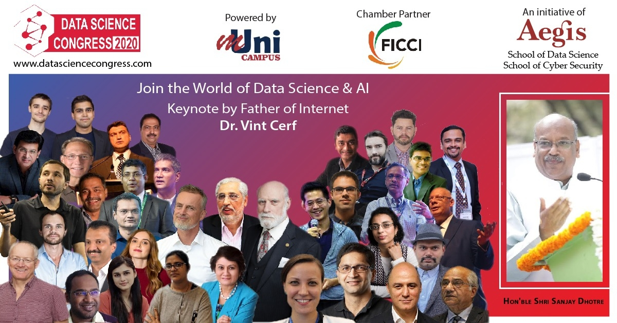 Data Science Congress 2020 virtual featuring world leaders in AI on June 6 and 7
