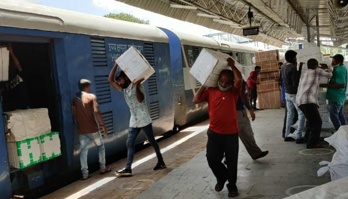 WR delivers 63000 tonnes of essential commodities through 356 Parcel spl trains