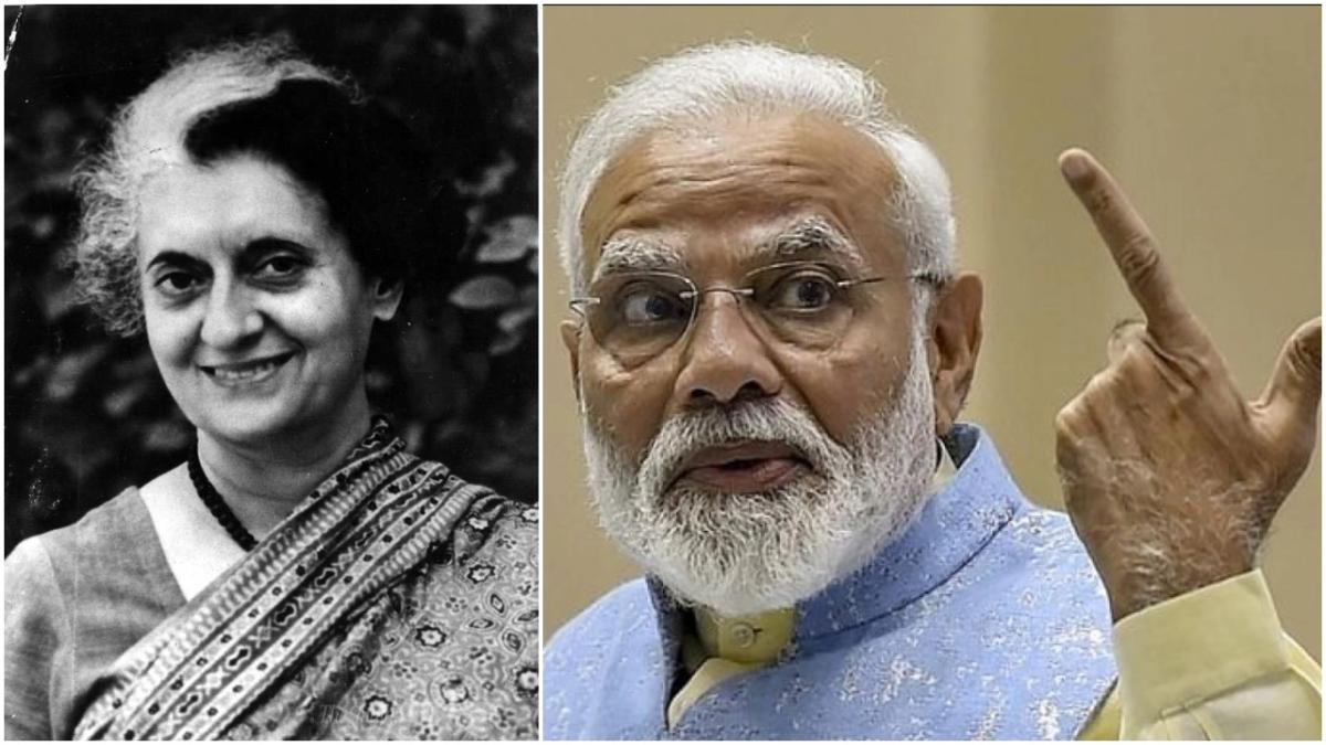Indira Gandhi and Narendra Modi