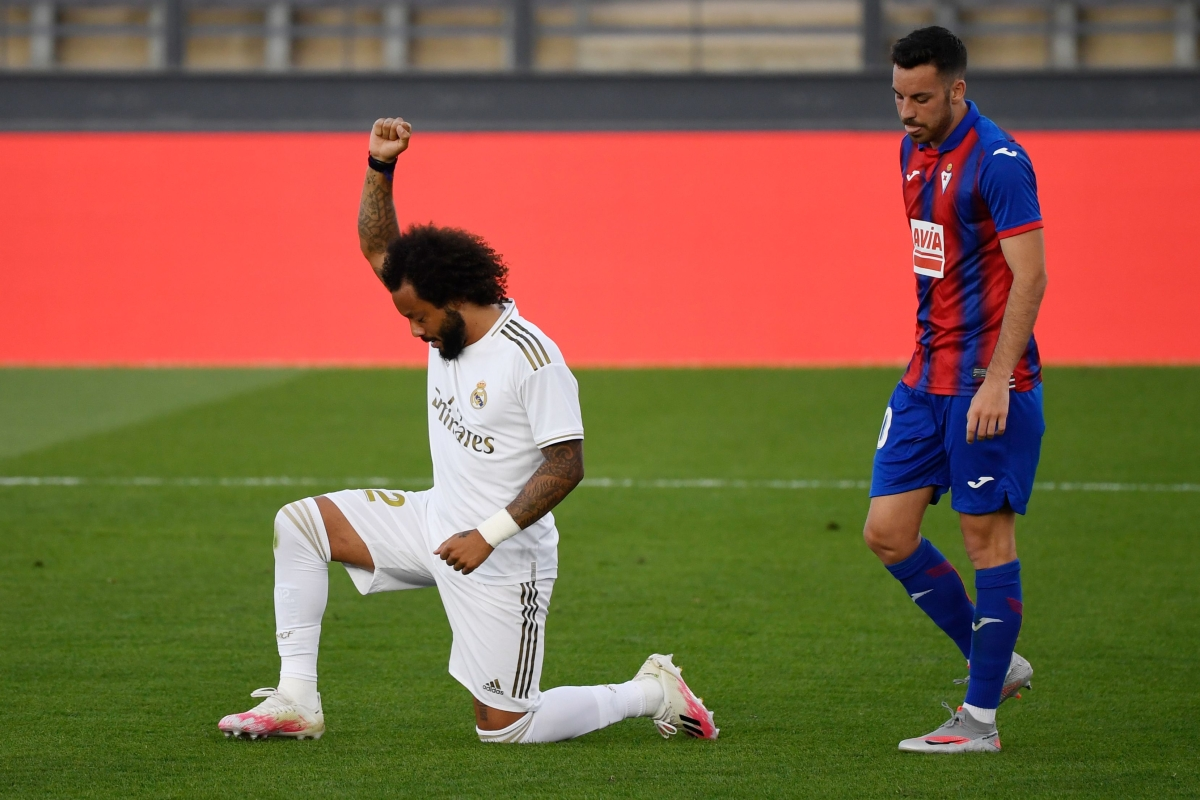Real Madrid score 3-1 behind closed doors, responding to leader FC Barcelona