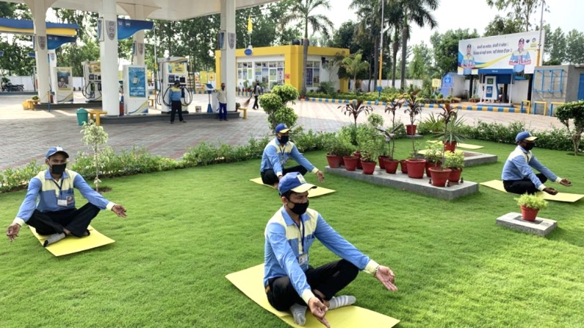 BPCL celebrates International Yoga Day