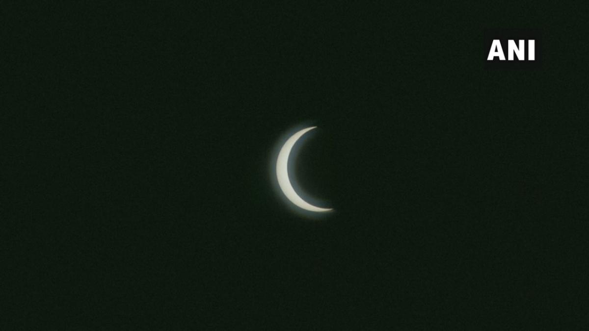 United Arab Emirates: #SolarEclipse2020 as seen in the skies of Dubai.