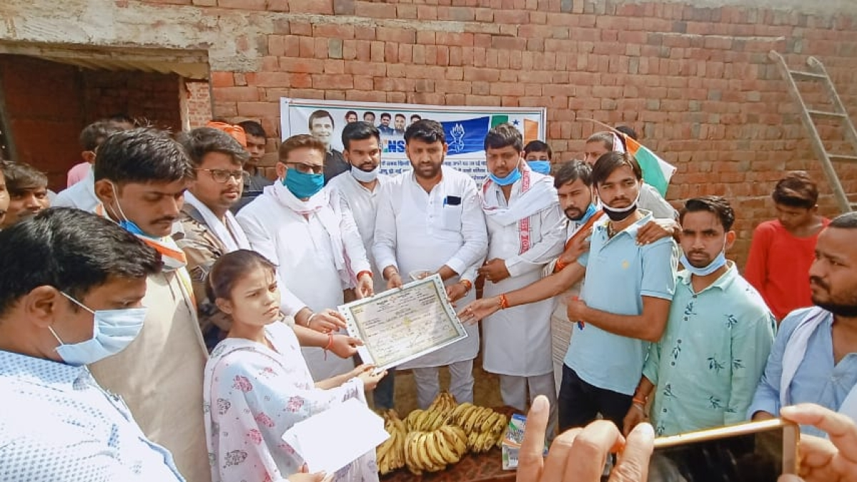 MP NSUI provides financial aid to deceased labourer's family, takes responsibility of educating children
