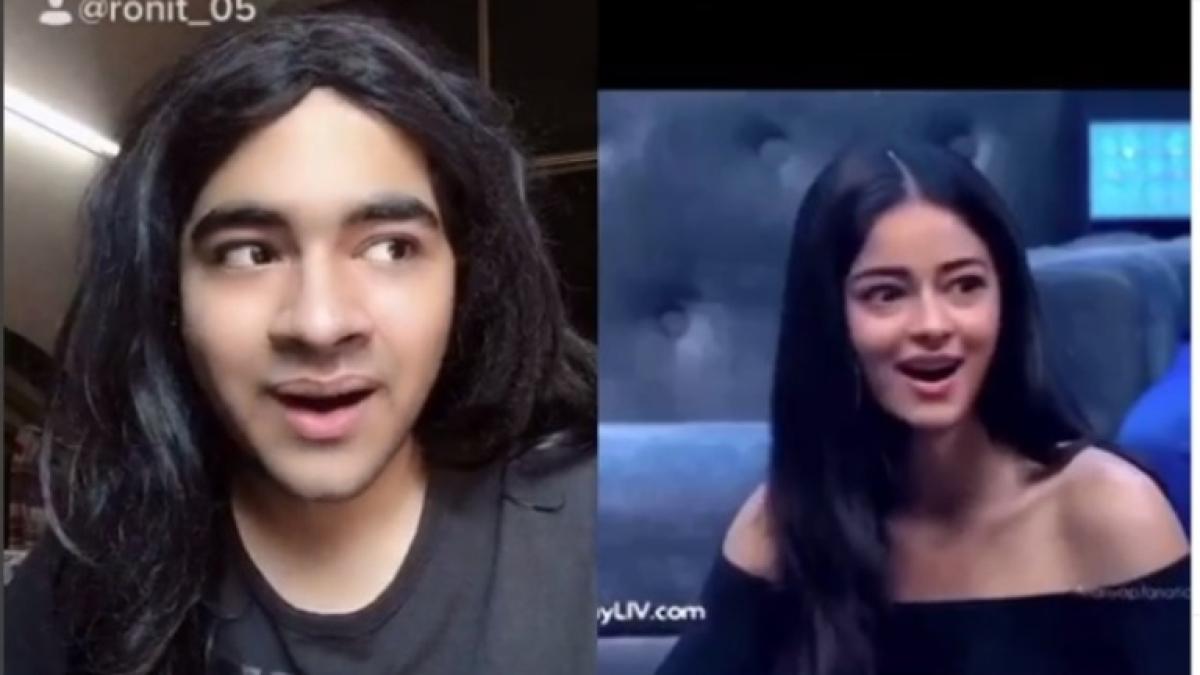 TikTok star's hilarious videos mimicking Ananya Panday go viral; actress says 'Doing me better than me'