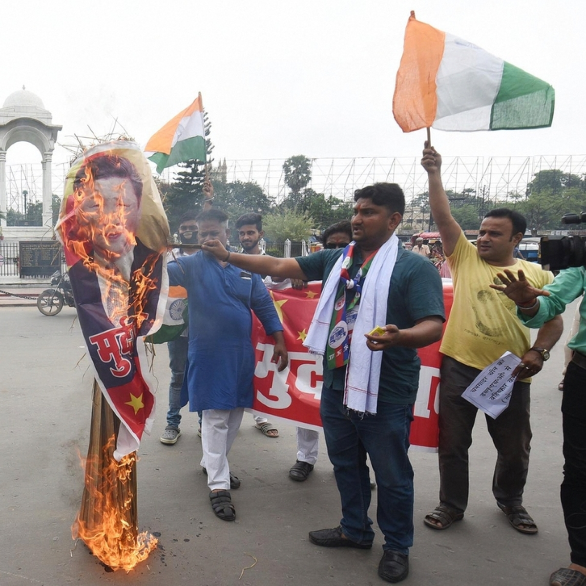 As Bihar mourns loss of five Indian Army officials slain in Indo-China clash, protests against use of Chinese products