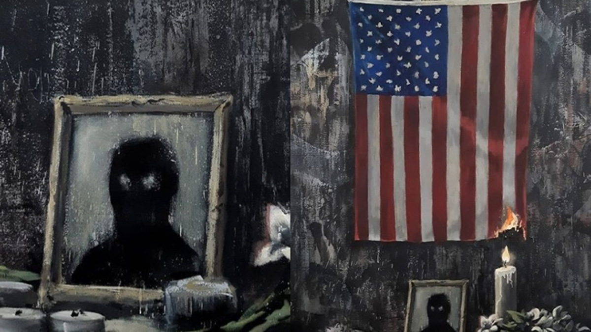 Banksy unveils latest artwork inspired by George Floyd and Black Lives Matter