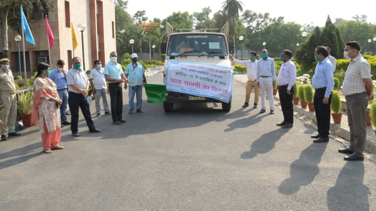NTPC Dadri provides 17 quintals of food items for Covid-19 affected persons