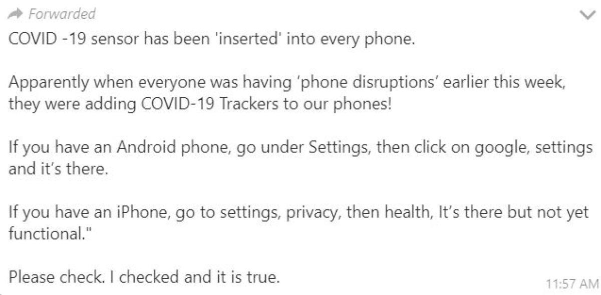 Did Google and Apple put a COVID-19 tracking app on your phone? Here is the truth