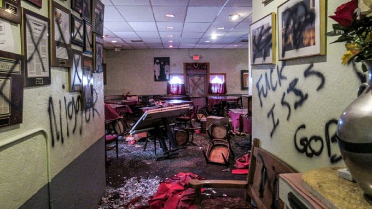 Vandals damage Indian restaurant in USA's New Mexico state; paint the walls with racist graffiti
