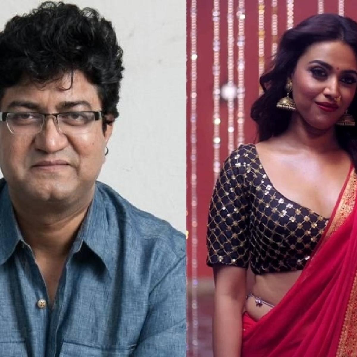 Prasoon Joshi 'saddened' by Swara Bhasker's 'Rasbhari' web-series,  calls out the 'irresponsible content'