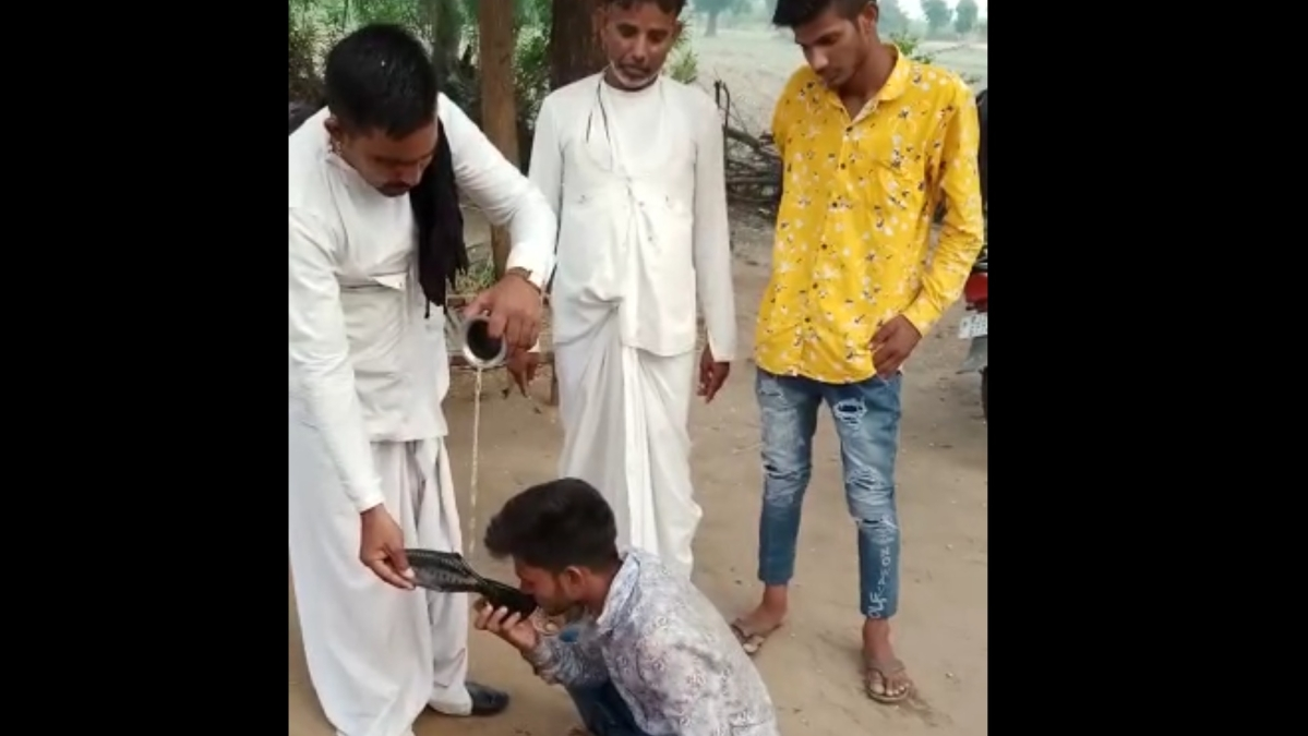 Watch: Panchyat forces boy to drink urine for falling in love in Rajasthan, video goes viral
