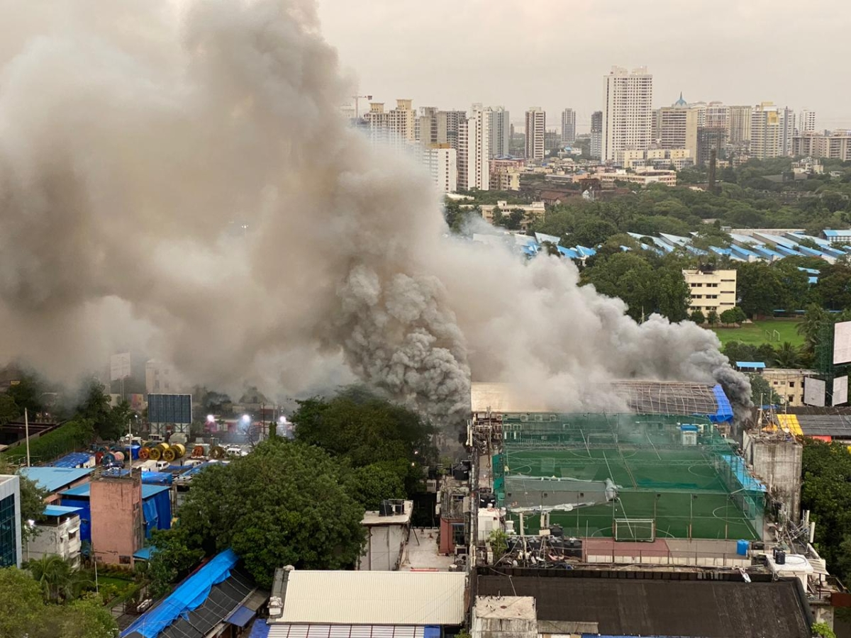 Mumbai: Fire in Raghuvanshi Mill compound in Lower Parel under control, cooling operation underway