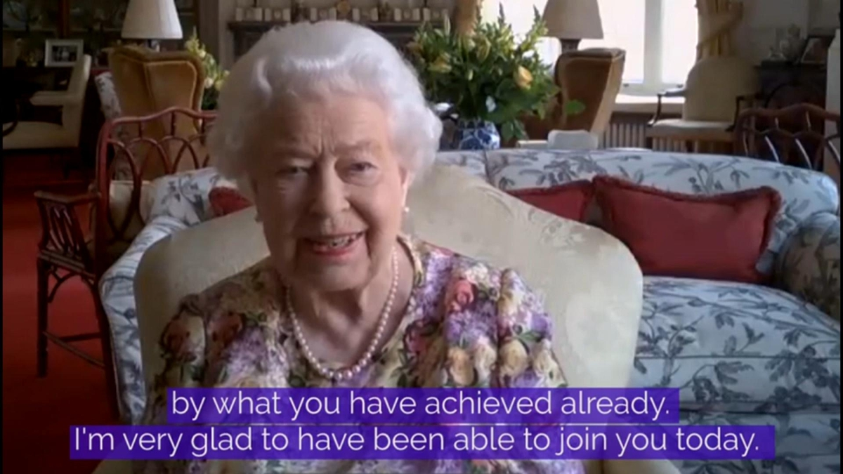 Britain's Queen Elizabeth makes history with her first ever public video call