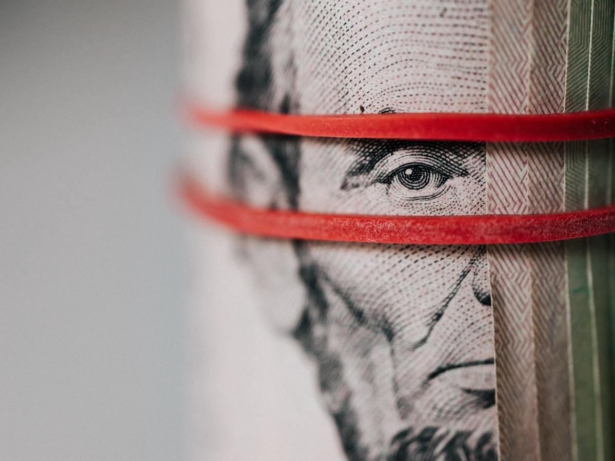 US currency bundled/ Representational Image
