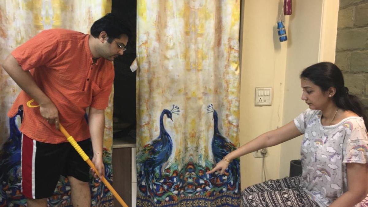 Sameera and Raghu Kishore at their Goregaon home